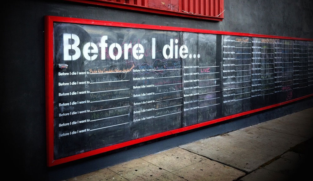 The top 50 things people want to do before they die!