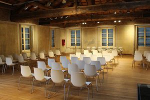 A workshop events room with chairs