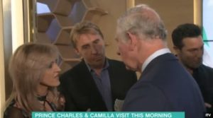 The Speakmans talking to Prince Charles