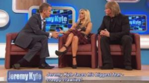 The Speakmans helping Jeremy Kyle face his fear of creepy crawlies