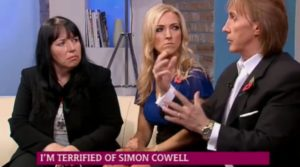 The Speakmans helping a lady on This Morning