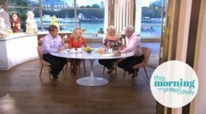 The Speakmans with Phillip Schofield and Holly Willoughby on This Morning