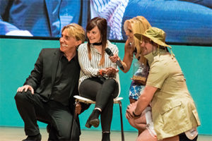 The Speakmans with a patient at one of their workshops