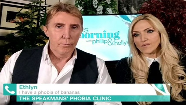 The Speakmans curing someone with a phobia of bananas